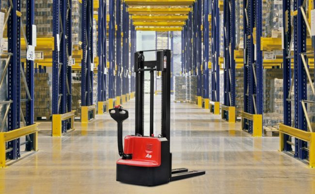 A series mini range pallet stacker (double column).1